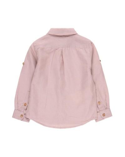 BOBOLI Linen shirt long sleeves for b - 739009