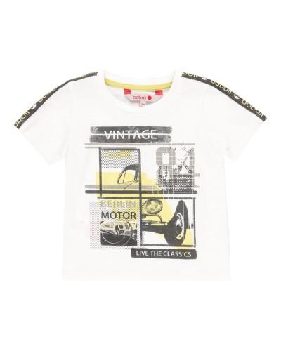 BOBOLI Knit t-Shirt flame for baby bo - 329071